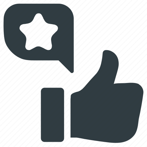 feedback, like, rating, star, thumbs up, tide icon