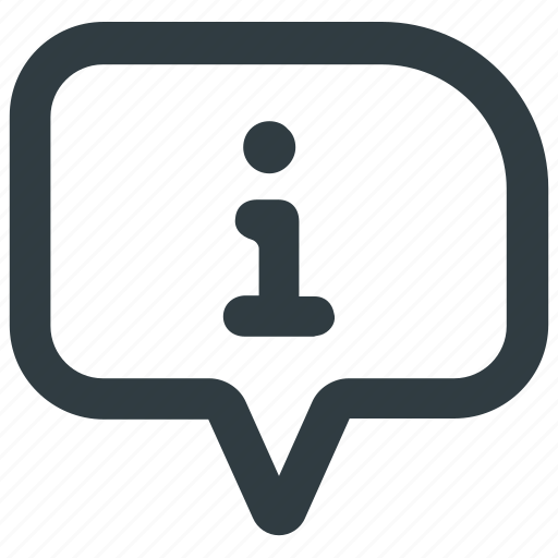 about, bubble, chat info, faq, help, information, support icon