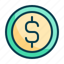 coin, money, currency, finance, dollar, cash, business