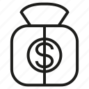 finance, fund, money, purce, value icon