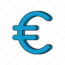 e-commerce, euro, money icon