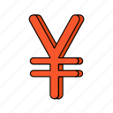 e-commerce, money, yen icon