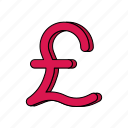 e-commerce, money, pound sterling icon