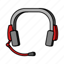 customer service, e-commerce, headphones icon