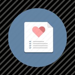 checklist, favorite, like, list, paper, wish, wishlist icon