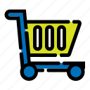 e-commerce, online shop, shop, shopping, shopping cart, start up, trolley icon