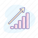 bar, business, chart, diagram, graph, growth, success icon