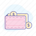 cash, dollar, finance, income, money, payment, wallet icon