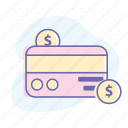 banking, business, credit card, finance, money, online, payment icon
