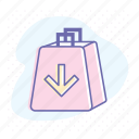 add, bag, retail, shop, shopping, shopping cart icon