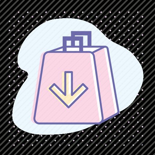 add, bag, retail, shop, shopping, shopping cart icon