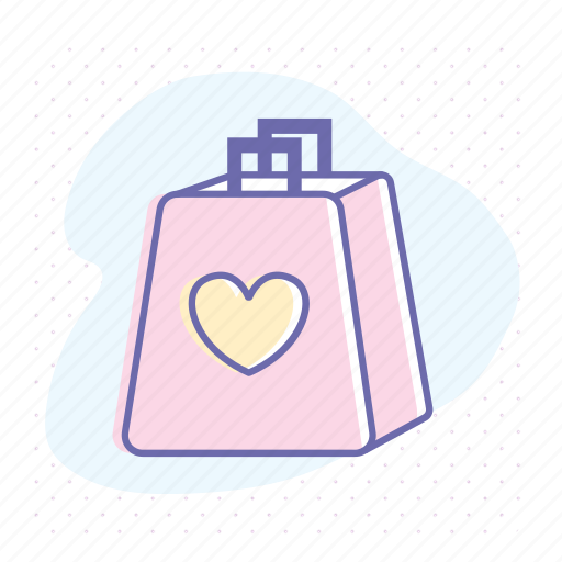bag, favorite, gift, mall, retail, sale, shopping icon