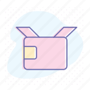 box, delivery, item, open, post, shipping icon