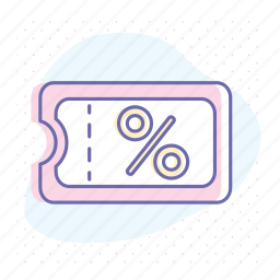 business, coupon, discount, offer, percent, price, sale icon