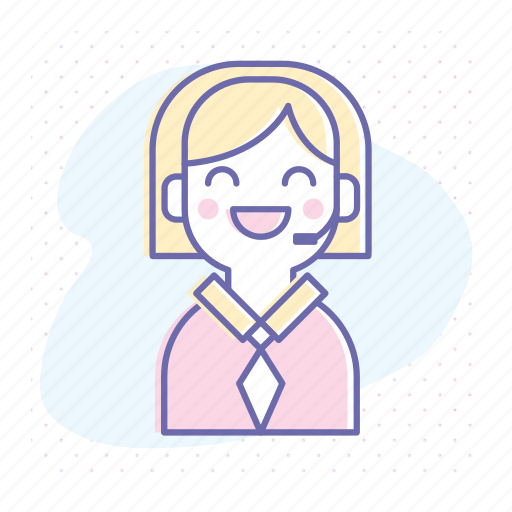 assistant, business, help, operator, service, support, woman icon