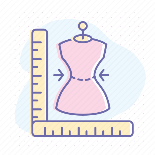 atelier, clothing, fashion, measuring, sewing, size, tailor icon