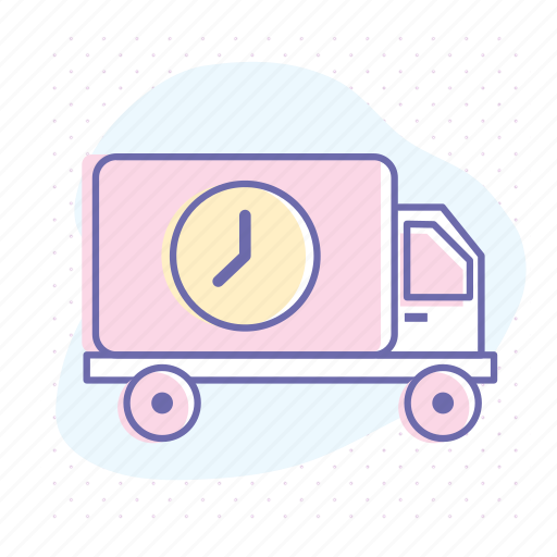 business, courier, delivery, lorry, shipping, transportation, truck icon