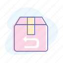 box, business, delivery, item, return, shipping, transportation icon