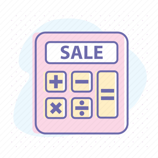 accounting, calculation, calculator, discount, financial, math, sale icon