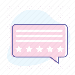 chat, comment, feedback, ratings, report, review, star icon
