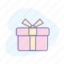 bonus, box, gift, greeting, package, present icon