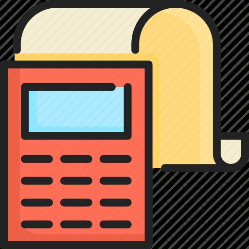bill, business, cash, finance, paper, payment, receipt icon