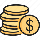 business, cash, coin, currency, finance, money, payment icon