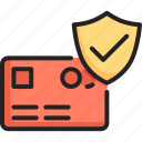 banking, buy, card, credit, pay, payment, security icon