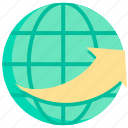 business, connection, global, internet, network, service, technology icon