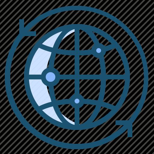 network, wide, world icon