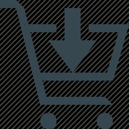 add, buy, ecommerce, plus, shop, shopping, trolley icon