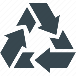 arrow, cycle, full, recycle, recycling, waste-free, wasteless icon