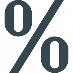 discount, ecommerce, offer, percent, percentage, price, sale icon