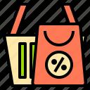 bag, digital, internet, online, shopping, technology, website icon