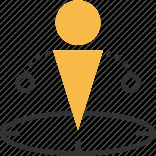 commerce, e, ec, location, position icon