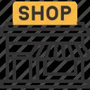 commerce, e, ec, shop icon