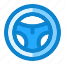 automotive, ecommerce, streering, wheel icon