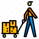 cargo, package, shipping icon