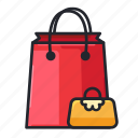 bag, e-commerce, paper bag, shop, shopping