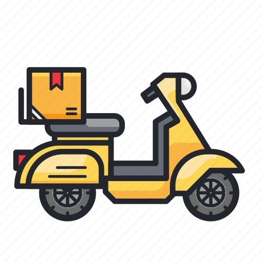 courier, delivery, moto, scooter, shipment, transport, transportation icon
