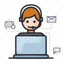 call, contact person, customer service, help, support, technical support icon
