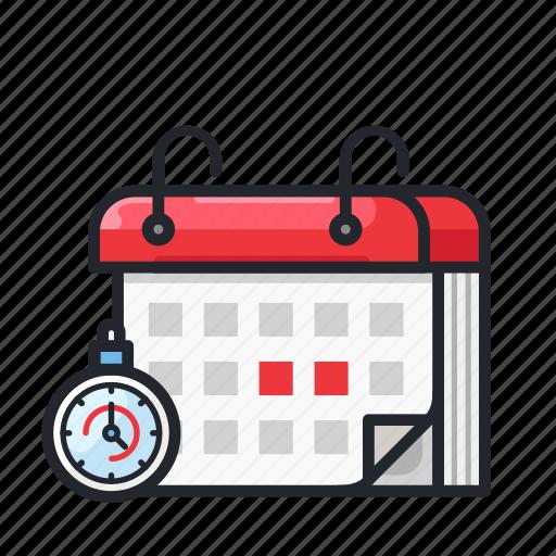 calendar, date, deadline, duration, time icon