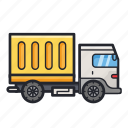 delivery, shipment, transport, transportation, truck icon
