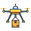 courier, delivery, drone, flight, plane, shipment, transportation icon