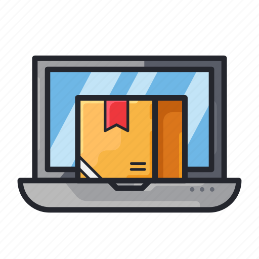 Box, dropshipper, e-commerce, laptop, online shop, shoping icon - Download on Iconfinder