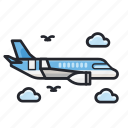 air plane, delivery, plane, shipment, transportation icon