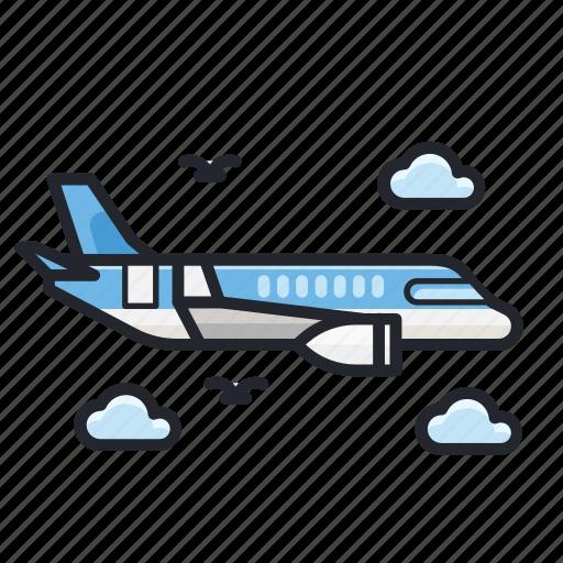 air plane, delivery, plane, shipment, transportation icon