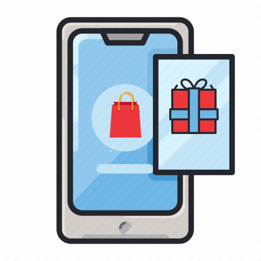 App, e-commerce, mobile app, online shop, phone, shopping, transaction icon - Download on Iconfinder