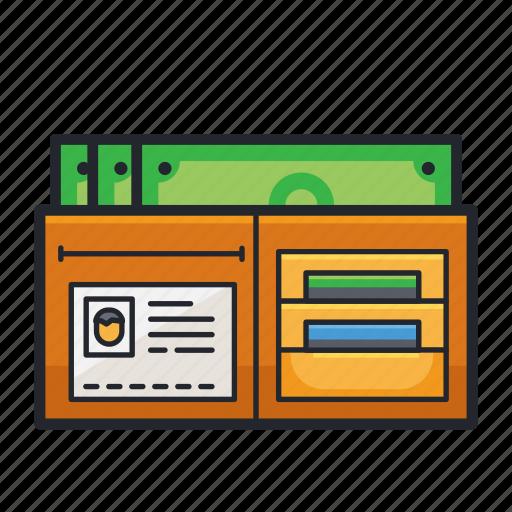 billfold, e-commerce, money, purse, wallet icon