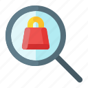 ecommerce, find, magnifier, search icon